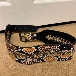 BCBG Snakeskin Belt
